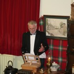 Bob Robertson and the toast to Greenloaning Burns Club