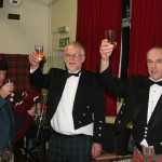 Eck Bob and Neil Toast the Haggis