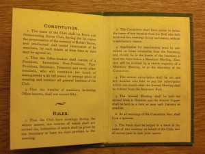 THE CONSTITUTION OF THE CLUB AND 7 OF ITS 12 RULES