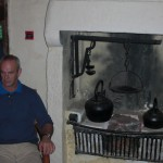The fireplace in the sitting/Bedroom of the cottage - Eck in Residence!