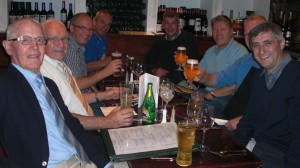 Raising a glass to absent friends (Harry)