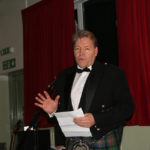 Peter Hill toastes the Greenloaning Burns Club