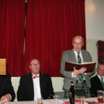 Peter Scott reads the 2013 minutes