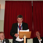 President Forbes reads the communication from the RBWF