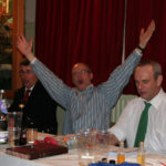 The top table sing the star
