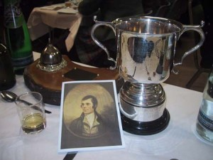 The programme and the Green Bowling Burns Cup - renamed